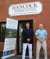Wayne Jalbert and Ed Dixon at Hancock Associates Newburyport Branch